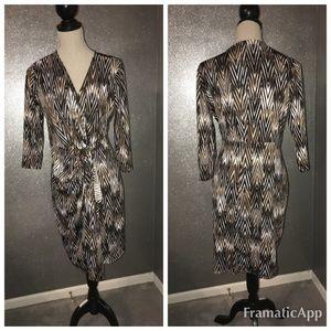 SoHo apparel LTD chevon print dress: M